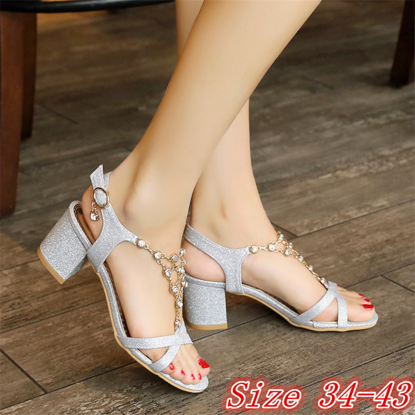 Peep Toe Women High Heel Sandals Shoes Woman High Heels Ladies Gladiator Sandals Pumps Plus Size 34 - 40 41 42 43 High Quality