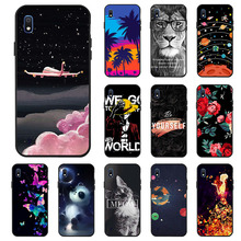 Ojeleye Fashion Black Silicon Case For Samsung Galaxy A10 Cases Anti-knock Phone Cover A105 Covers