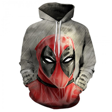YOUTHUP 2019 New Mens 3D Hoodies Funny Deadpool Print Sweatshirts Pullovers Long Sleeve Male Full pullovers