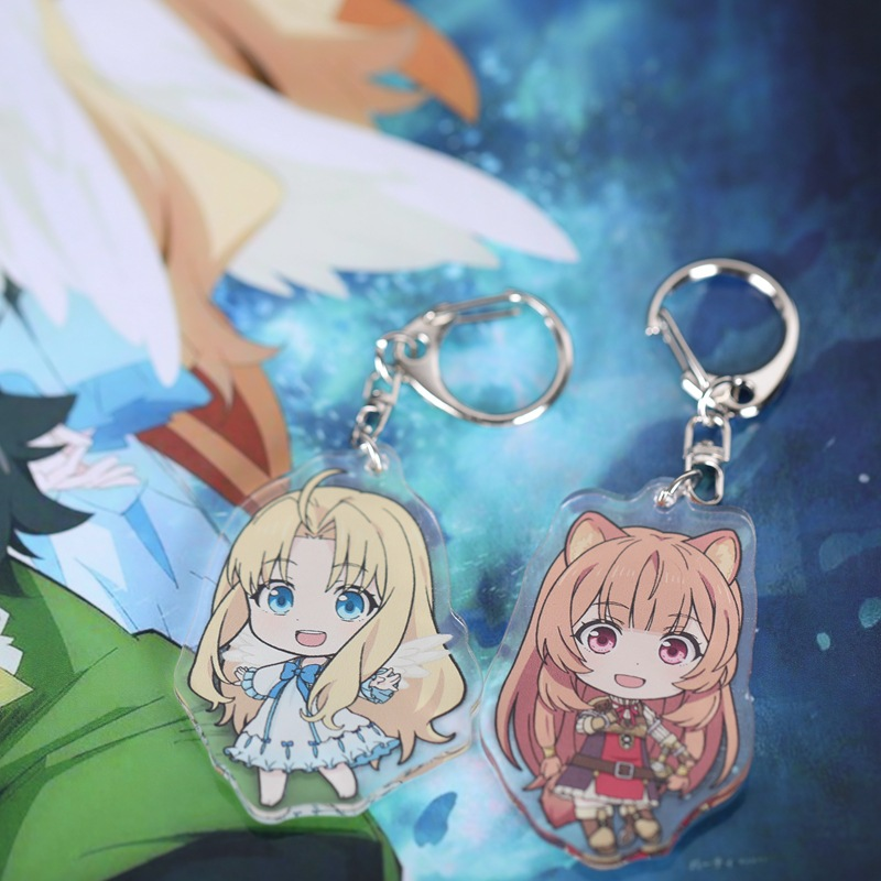 Japan Anime The Rising Of The Shield Hero Keychain Raphtalia Pendants Tate No Yuusha No Nariagari Filo Acrylic Keyring Gift 1pcs