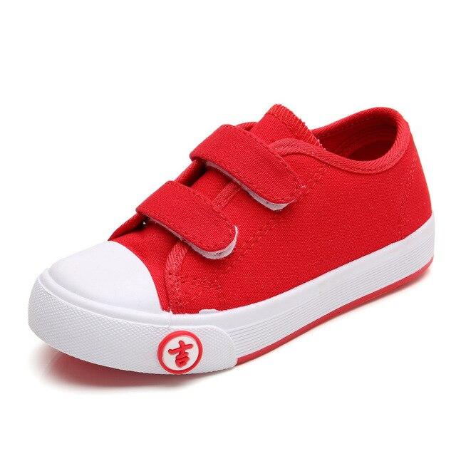 23fcfb75ee2 Jongens Canvas Schoenen Kinderen Sneakers Meisjes Sports Kids Eenvoudige  Effen Ademend Zachte Casual Platform Peuter Meisjes