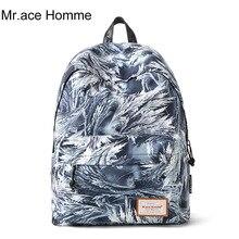 Mr. ace homme Модные мужские рюкзак нейлон Рюкзаки Женские студенческие школьные рюкзаки для подростков качество ноутбук рюкзак ранец