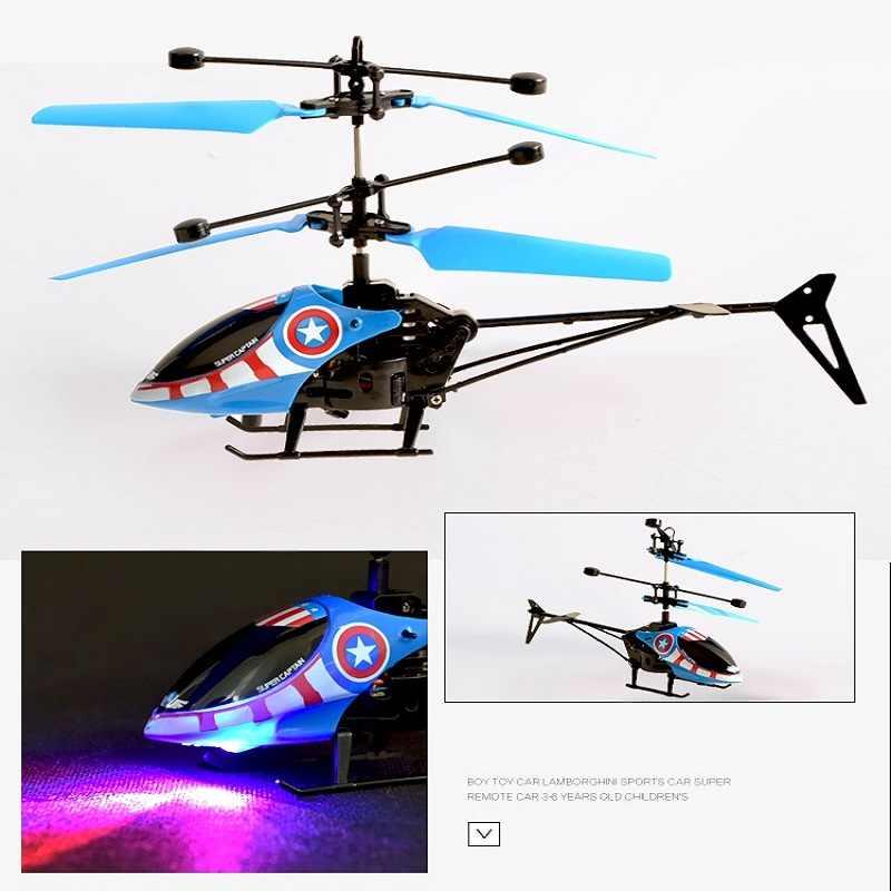 Mini Drone RC Drone Terbang RC Pesawat Helikopter Drone Inframerah Induksi Lampu LED Remote Control Drone Mainan Anak-anak Gratis Pengiriman