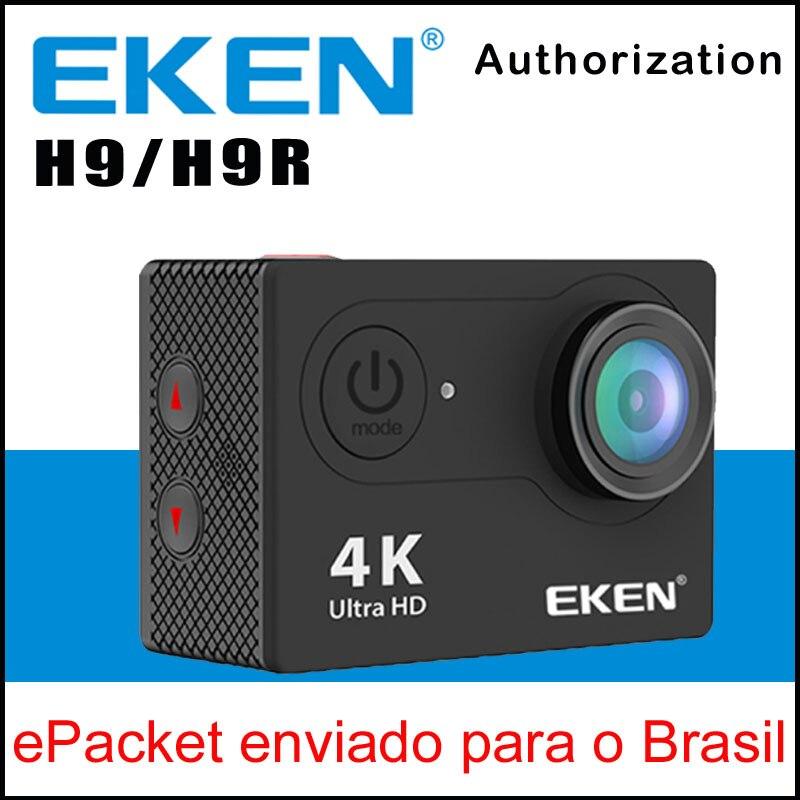 EKEN H9 Action camera H9R 4K / 25fps UnderWater Waterproof Sport Cam Helmet Bicycle Mini Cam 170D WiFi 2.0 LCD ActionCam