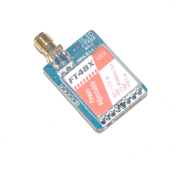 FPV 5.8G 0.25-600mW Adjustable 48-Channel A/V Transmitter (VTX) FT48X for