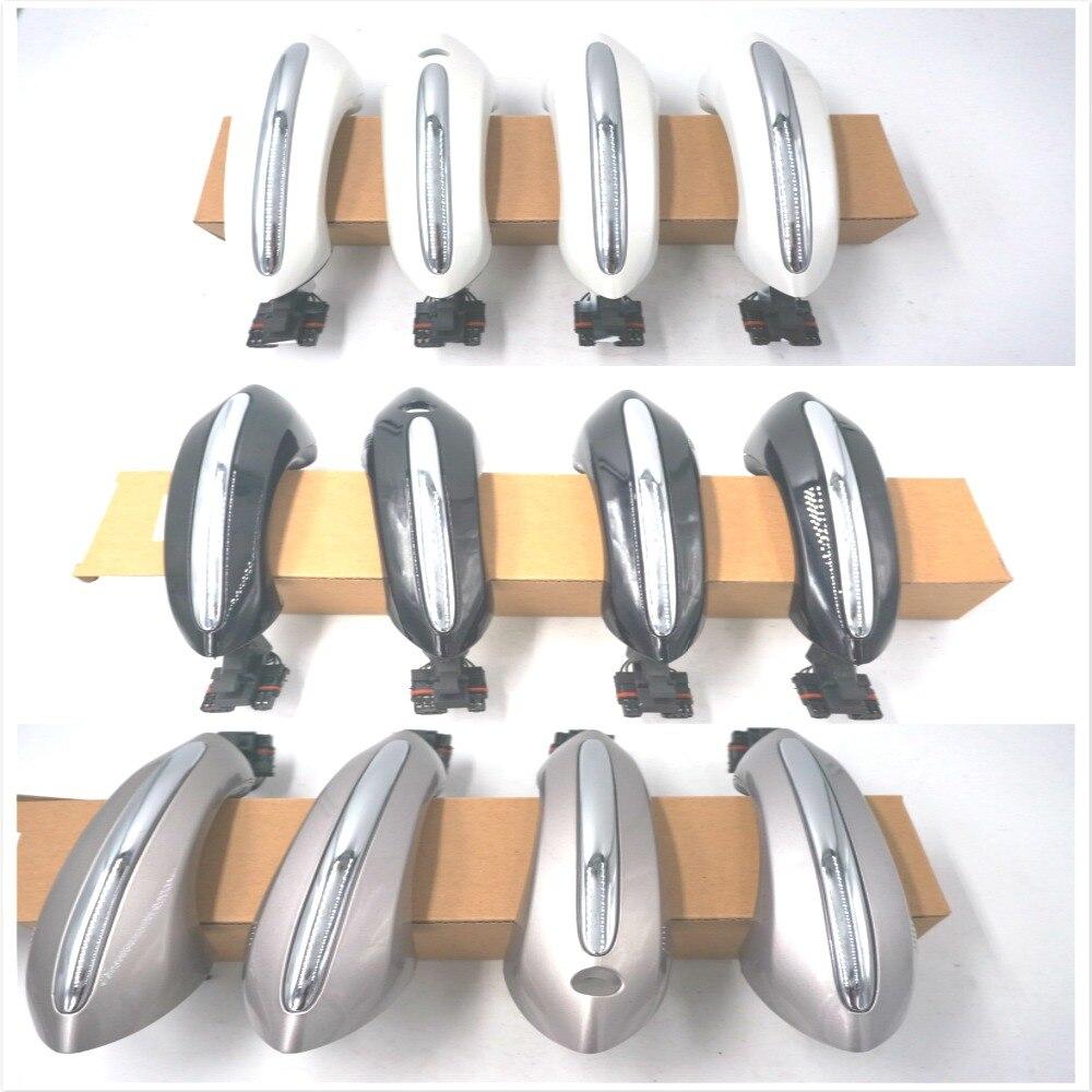 Couleur champagne noir blanc pour BMW F07 F10 F06 F11 F01 F03 F04 poignée de porte arrière avant gauche droite KEYLESGO 51217231931