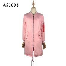 Winter zipper Christmas bomber jacket women long sleeve windbreaker army ladies coats womens down jackets plus
