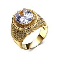 2017 nowe wydanie Małżeństwo pierścienie Alergia Bezpłatne Big pierścień biżuteria Wysokiej jakości kobiety mody aaa cyrkon gouden dames ringen