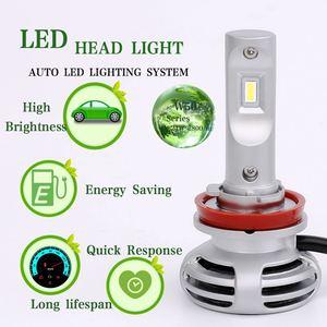 Image 3 - 2Pcs W50 H11 LED Auto Headlight H1 h4 H7 9005 9006 9012ultra bright headlamps fog lamp refitted distant light 6000K Auto lamp