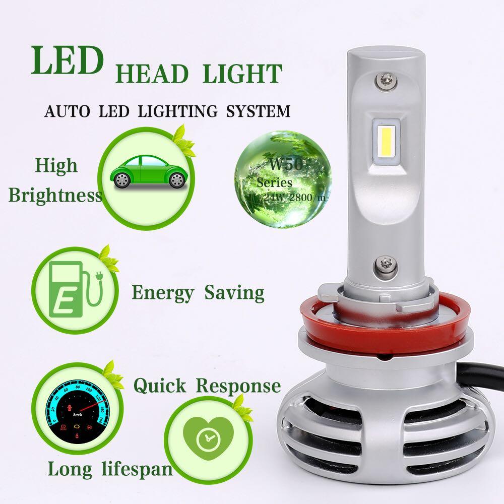 Image 3 - 2Pcs mini H11 Auto Headlight H7 LED H4 H16 H13 H1 H3 H27 H8 9006 9005 72W 8000LM 6500K 12V 24V Car Headlamp COB Fog Light Bulb-in Car Headlight Bulbs(LED) from Automobiles & Motorcycles