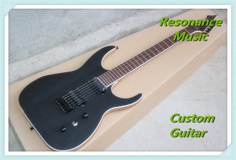 100% Real Pictures Chinese Matte Black 6 Strings Electric Guitar Body & Kits Left Handed Available human new arrival 7 strings electric guitar matte black clouds striped body and head black hardware free shipping
