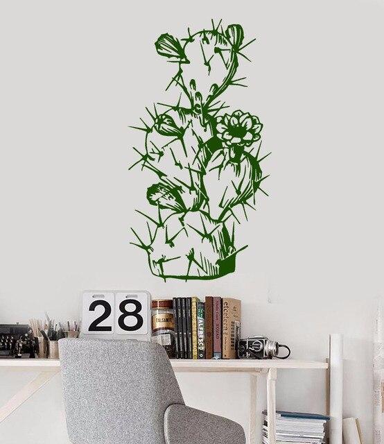 Pflanze Blume Natur Vinyl Wandtattoos Wohnzimmer Schlafzimmer .