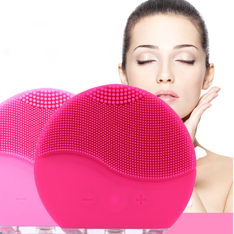 New Ultrasonic Electric Facial Cleansing Brush Vibration Skin Remove Blackhead Pore Cleanser Waterproof Silicone Face Massager electric face brush women silicone facial cleansing massager brush skin care cleanser dirt remove exfoliator cleaning tool