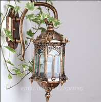 Vintage tage antique bronze wall lamp balcony porch garden decoration light outdoor lighting