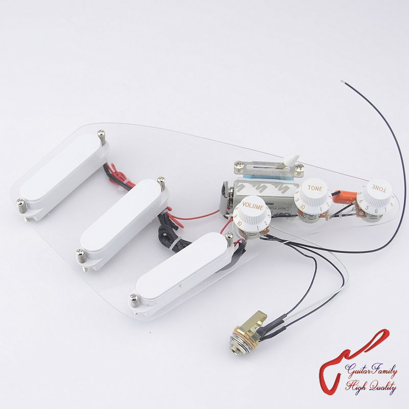 1 Set  GuitarFamily Wiring Harness SSS Active Electric Guitar Pickup ( #1224 ) electric guitar wiring harness prewired kit 5 way toggle switch 250k 2t1v pots for strat parts set of 10