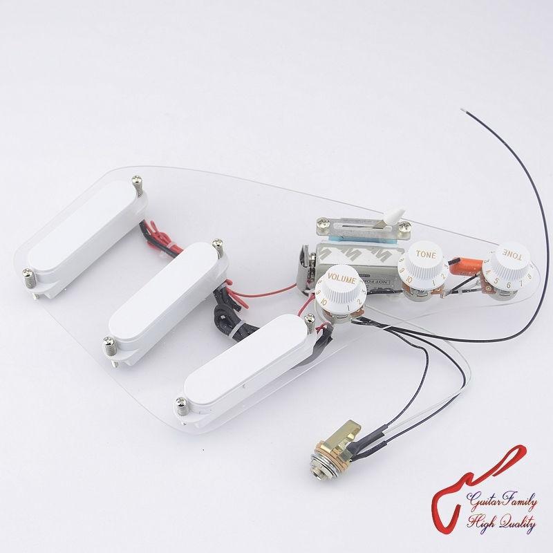 1 Set GuitarFamily câblage faisceau SSS actif guitare électrique pick-up (#1224)
