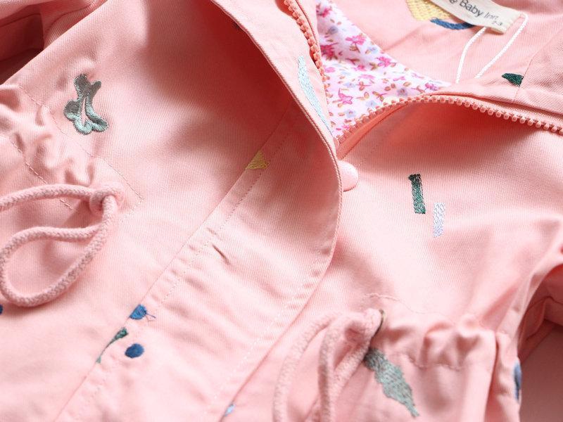2018 lente herfst meisjes windjack jas baby kinderen bloem - Kinderkleding - Foto 3