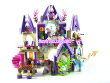 AIBOULLY 10415 Elfes Azari/Aira/Naida/Emily Jones Ciel Château Forteresse mini Building Block Enfants Briques Jouets 41078
