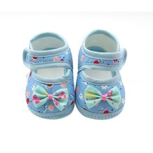 Newborn Baby Girl Shoes Lace Bowknot Pink zapatos bebes Toddler Prewalker Anti-Slip First Walker(China)