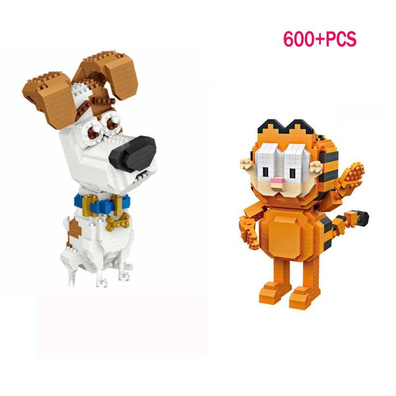 LWKO Garfield Odie Orange Chat Chien de Bande Dessinée Caractère de Américain Diamant Building Blocks Figure Jouet Legoe Pour Enfants 14 + âges
