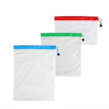 DCOS 12pcs Reusable Mesh Produce Bags Washable Eco Friendly Bags for Grocery Shopping Storage Fruit Vegetable Toys 3