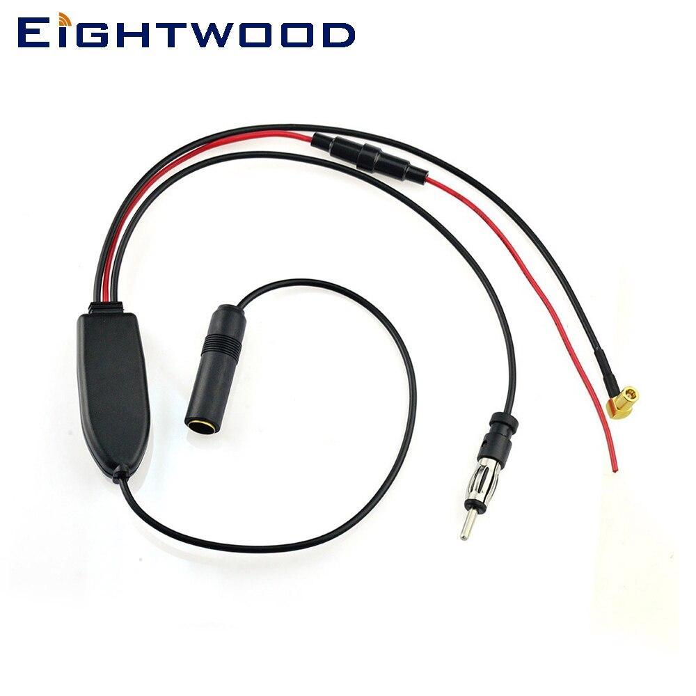 Eightwood Universel DAB FM/AM Radio Antenne Antenne Signal Splitter + Amplificateur Câble Adaptateur pour JVC Pionnier MVH-X580 SLK R170