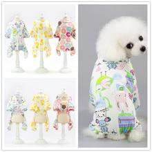 Хлопчатобумажный комбинезон для собак; Летний комбинезон для собак; комбинезоны; весенняя одежда; F137