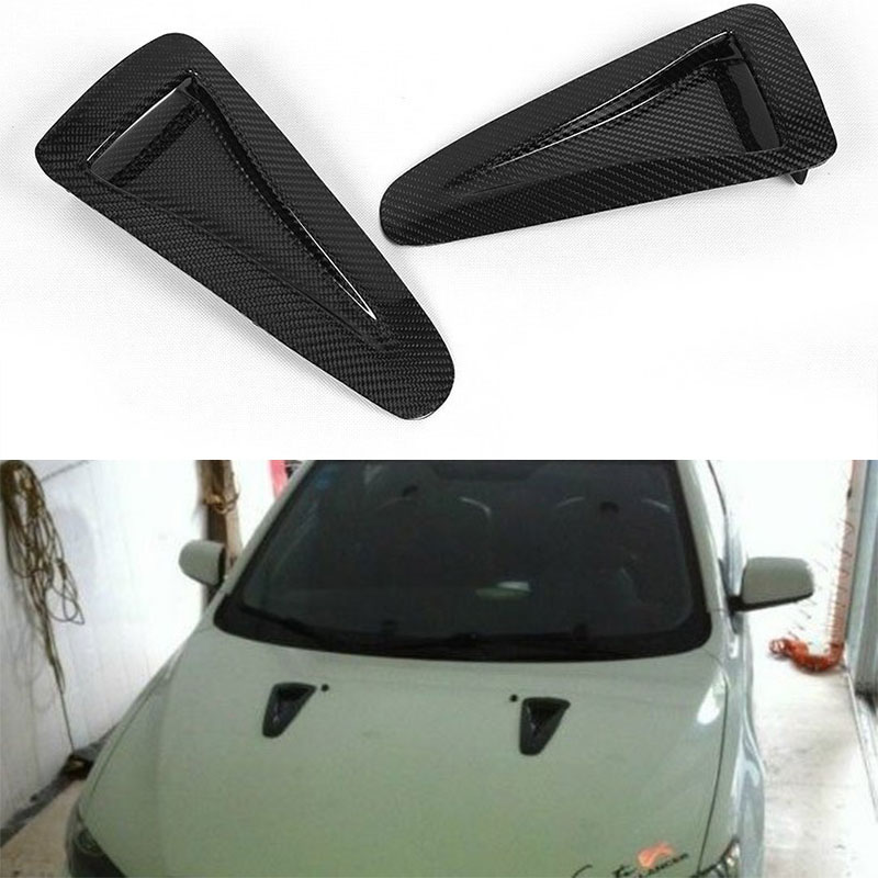 Évent latéral de conduit d'air de Fiber de carbone d'évent de capot de pare-chocs avant pour Nissan GTR GT-R R35 2012 2013