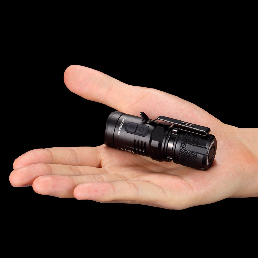 NITECORE EC11 Mini EDC 900 lumens CREE LED Mini Flashlight Torch with Red Light with imr 18350 battery Not Battery 3800 lumens cree xm l t6 5 modes led tactical flashlight torch waterproof lamp torch hunting flash light lantern for camping z93