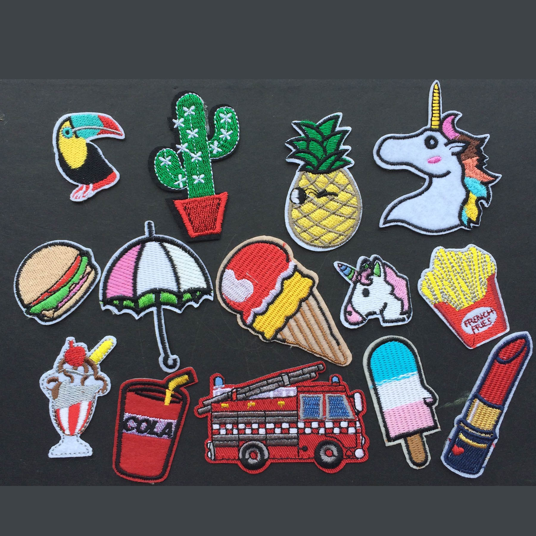 Fashion fabric patch stickers child clothes trousers for Applique decoration