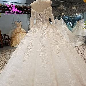 Image 5 - AIJINGYU Wedding Dresses India Slim Gowns female Online Long Train Gown Pearl Dress Floor Length