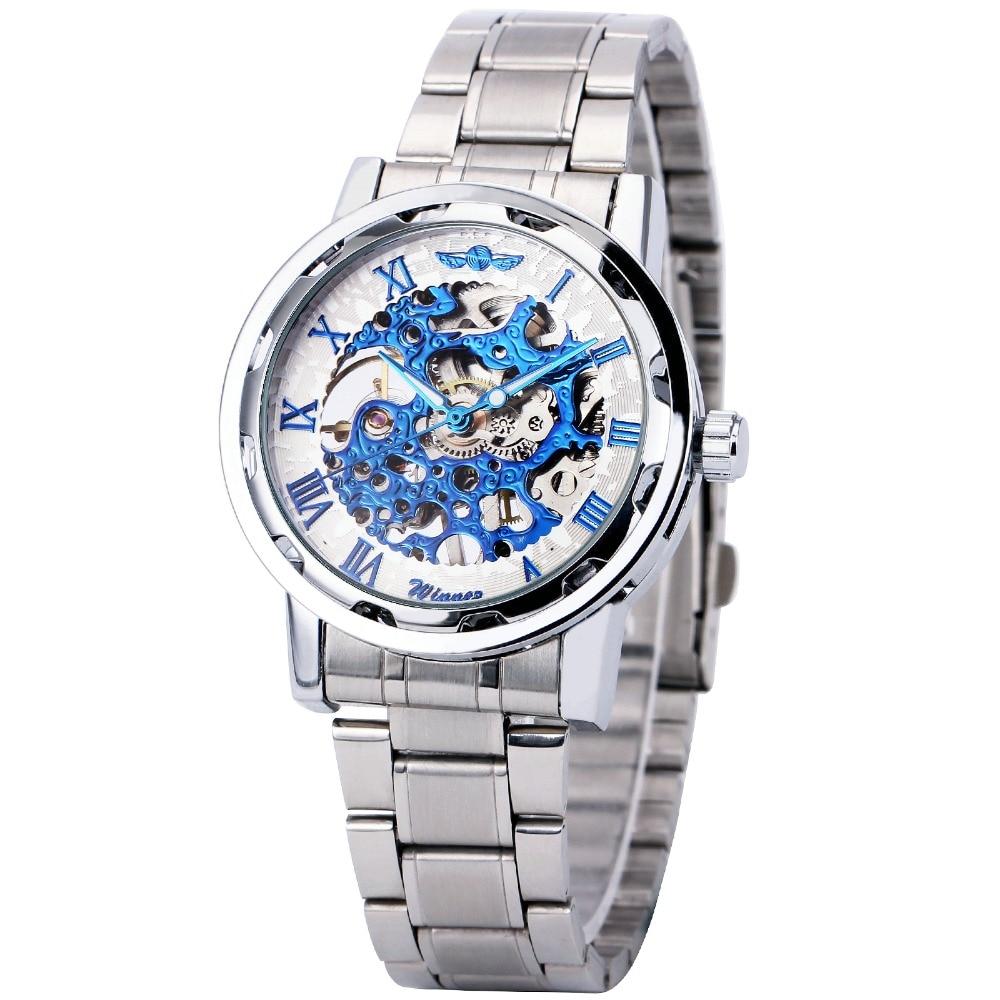 Mechanical Watches For Men s Top Brand Luxury font b WINNER b font Roman Numerals Semi