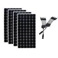 20% солнечная панель эффективности 24 v 200 w 4 шт Солнечная Батарея Зарядное устройство 4 в 1 разъем система на солнечной батарее для дома Motorhome кэ