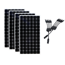 20% Efficiency Solar Panel 24v 200w 4 Pcs Battery Charger in 1 Connector Home System Motorhome Rv Caravan