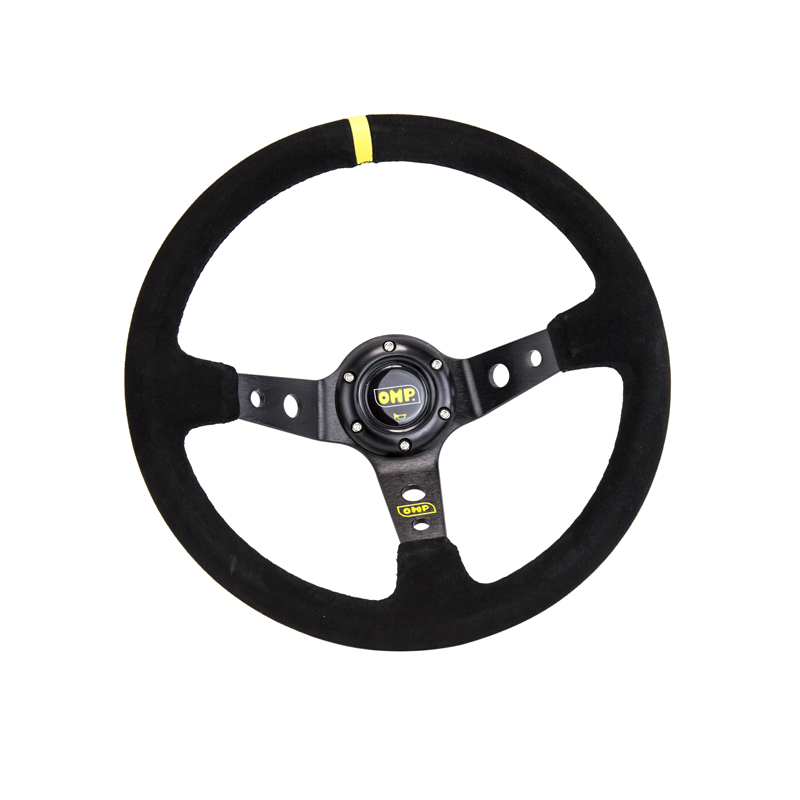 Image 4 - 14inch 350mm OMP Deep Corn Drifting Suede Leather Steering Wheel / Universal Car Auto Racing Steering wheels 3/Colors PQY SW21-in Steering Wheels & Steering Wheel Hubs from Automobiles & Motorcycles
