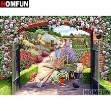 HOMFUN Full Square/Round Drill 5D DIY Diamond Painting Garden Farm Embroidery Cross Stitch 5D Home Decor Gift A07278 homfun full square round drill 5d diy diamond painting garden