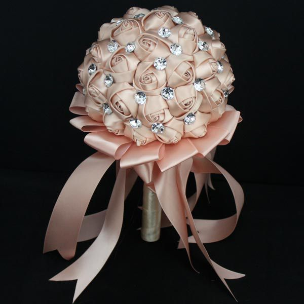 What Are Cheap Flowers For Weddings: 2017 Bridesmaid Wedding Bouquet Luxury Cheap Champagne