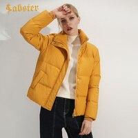 2018 Autumn Winter Jacket Women White Duck Down Padded Basic Jacket Short Outwear Casual Warm Female Coat kz054