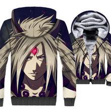 Anime Uzumaki Naruto jackets Uchiha Itachi fashion hoodies men Ootutuki Hagoromo tracksuit 2019 winter 3D Print hip-hop coat man