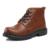 Nuevo Invierno de la Nieve Botas de piel de Vaca Mantienen Cálidas Botas de Felpa Tobillo Zapatos Al Aire Libre Hombres de Cuero Genuino Martin botas botas de Nieve de Costura A Mano botas