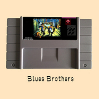Blues Brothers USA Version 16 Bit Big Gray Game Card For NTSC Game Player