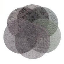 50Pcs/box 6 Inch 150mm Sandpaper Autonet Mesh Sanding Discs Dust Free Anti-blocking 80/120/180/240/320 Grits