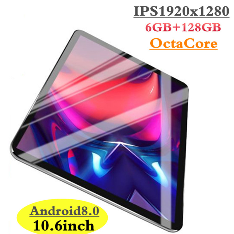 2019 New Google Play Android 8.0 OS 10.6 inch tablet Octa Core 6GB RAM 128GB ROM 1920*1280 IPS 2.5D Glass Kids Tablets 10 10.1 (China)