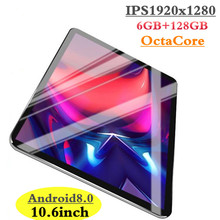 2019 New Google Play Android 8.0 OS 10.6 inch tablet Octa Core 6GB RAM 128GB ROM 1920*1280 IPS 2.5D Glass Kids Tablets 10 10.1