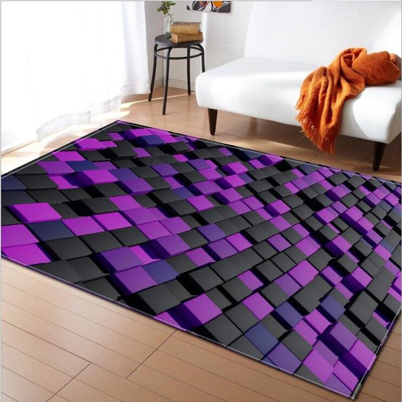 Nouveaux tapis d'impression 3D pour tapis de salon bébé chambre jouets jeu tapis de ramper/tapis chambre d'enfant décor à la maison Rectangle tapis