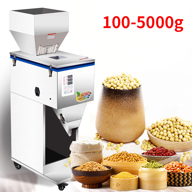100-5000g Granular Powder Filling Machine Digital Control Tea Grain Corn Grain Weighing Machine Automatic Filling Machine