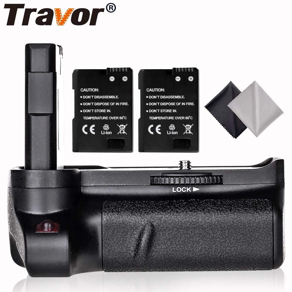 Travor New Arrival Battery grip holder for Nikon D3400 DSLR Camera +2PCS EN-EL14 Battery +2PCS Lens Cloth dste dc111 en el14 battery charger for nikon d3200 d5200 d5300 df p7700 p7800 more slr cameras
