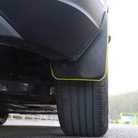 Estilo do carro exterior acessórios lama respingo flaps guarda para-lamas fender 4 peças para vw volkswagen t-roc 2017-2018