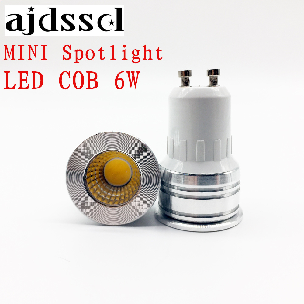 MINI spot NEW led spotlight GU10 COB Blubs E27 E14 GU5.3 dimmable 6W AC110V/220V LED GU10 lamp light replace the Halogen lamp