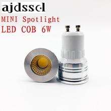 MINI spot NEW led spotlight GU10 COB Blubs E27 E14 GU5.3 dimmable  6W AC110V/220V LED GU10 lamp light replace the Halogen lamp gu10 6w 2800 3200k led ultra bright dimmable cob spotlight 500lm ac 90 260v